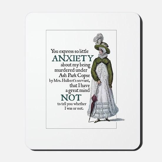 Jane Austen Anxiety Mousepad