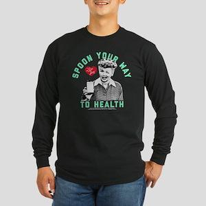 Lucy Spoon To Health Long Sleeve Dark T-Shirt