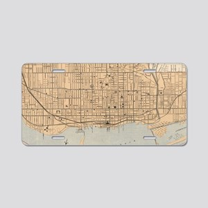 Vintage Map of Toronto (190 Aluminum License Plate