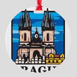 Prague Round Ornament