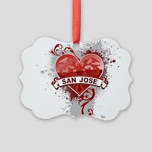 Heart San Jose Picture Ornament