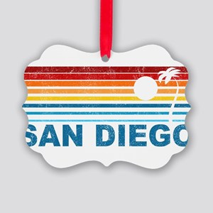 Palm Tree San Diego Picture Ornament