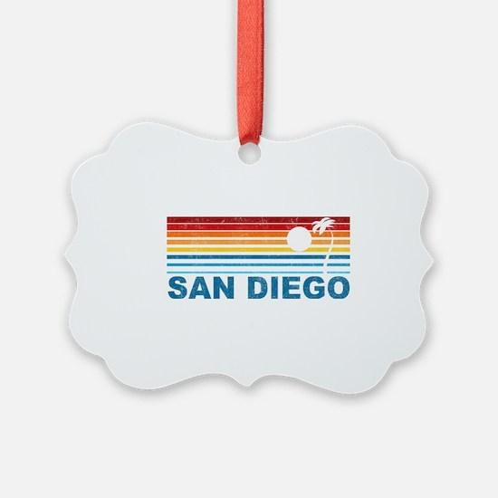 Palm Tree San Diego Ornament