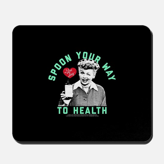Lucy Spoon To Health Mousepad
