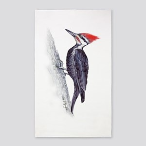 handsome pileated woodpecker 3'x5' Area Rug