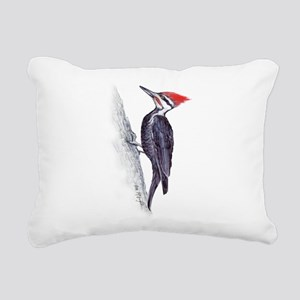 handsome pileated woodpecker Rectangular Canvas Pi
