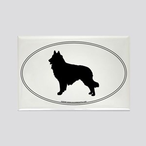Belgian Tervuren Silhouette Rectangle Magnet