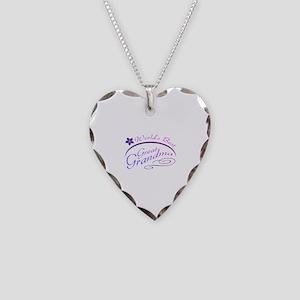 World's Best Great Grandma (purple) Necklace Heart