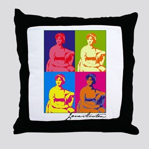 Jane Austen Pop Art Throw Pillow