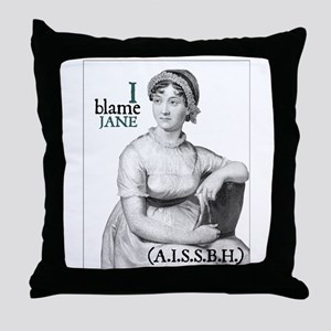 Jane Austen Blame Throw Pillow