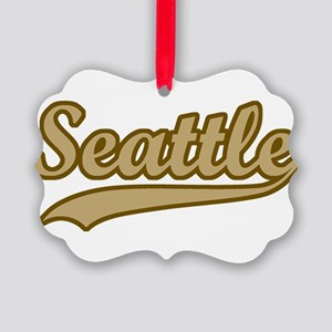 retro Seattle Picture Ornament
