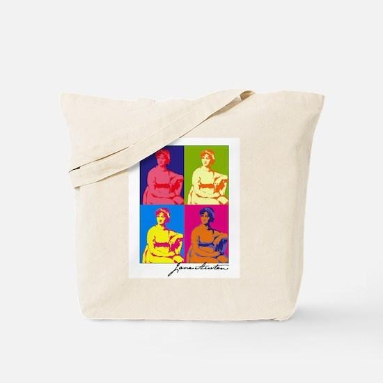 Jane Austen Pop Art Tote Bag