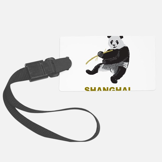 Shanghai Panda Luggage Tag