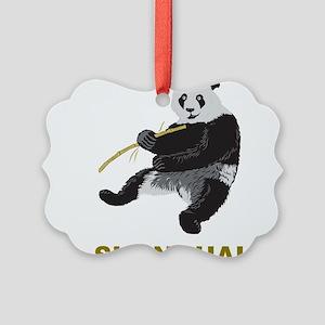 Shanghai Panda Picture Ornament