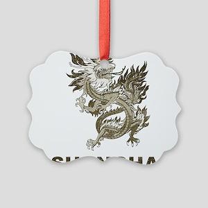 Vintage Shanghai Dragon Picture Ornament