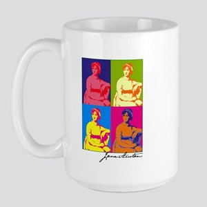 Jane Austen Pop Art Large Mug