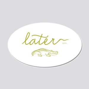 Later Alligator 20x12 Oval Wall Decal