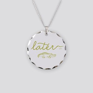 Later Alligator Necklace Circle Charm