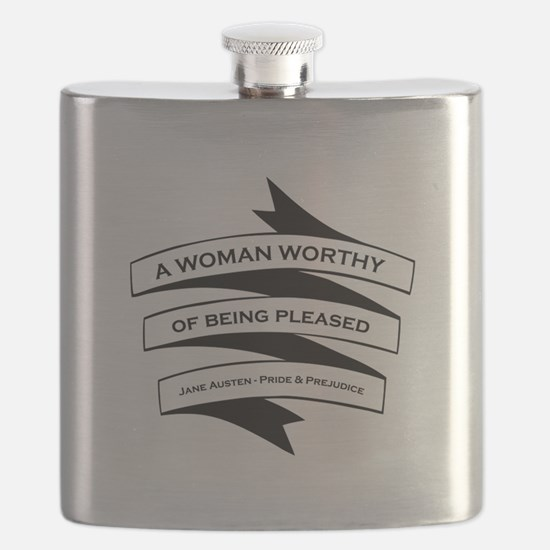 Woman Worthy of Being Pleased Flask