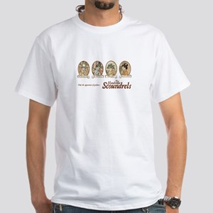 Jane Austen Scoundrels White T-Shirt