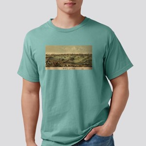 Vintage Pictorial Map of Mens Comfort Colors Shirt