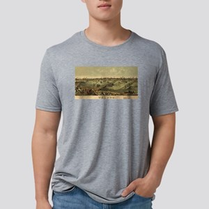 Vintage Pictorial Map of To Mens Tri-blend T-Shirt