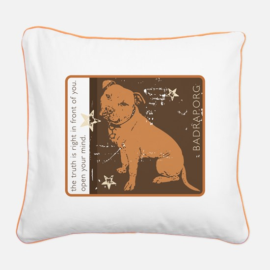 Funny Pitt bull Square Canvas Pillow
