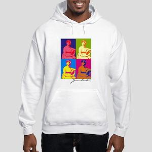 Jane Austen Pop Art Hooded Sweatshirt