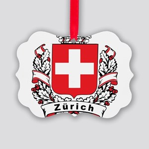 Stylish Zürich Crest Picture Ornament