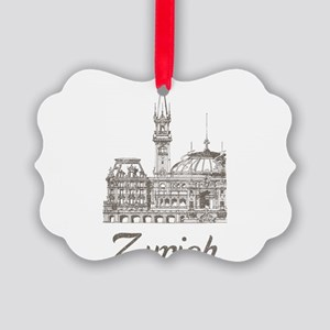 Vintage Zurich Picture Ornament