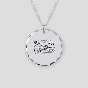World's Best Great Grandma Necklace Circle Charm
