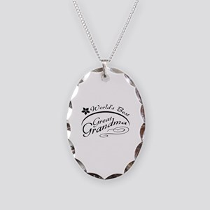 World's Best Great Grandma Necklace Oval Charm