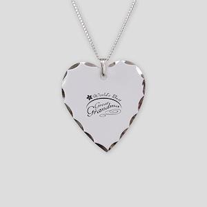 World's Best Great Grandma Necklace Heart Charm