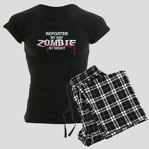 Reporter Zombie Women's Dark Pajamas