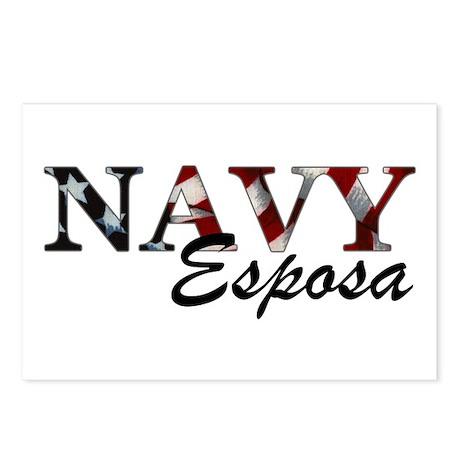Esposa del Navy (Bandera) Postcards (Package of 8)