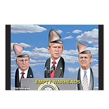 Bush/Cheney Parody Postcards (Package of 8)