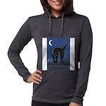 FIN-scaredy-cat Womens Hooded Shirt