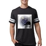 FIN-cat-moon-stars-1 Mens Football Shirt