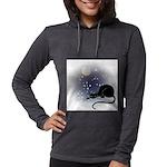FIN-cat-moon-stars-1 Womens Hooded Shirt