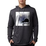 FIN-cat-moon-stars-1 Mens Hooded Shirt