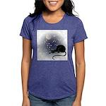 FIN-cat-moon-stars-1 Womens Tri-blend T-Shirt