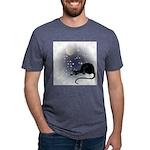 FIN-cat-moon-stars-1 Mens Tri-blend T-Shirt