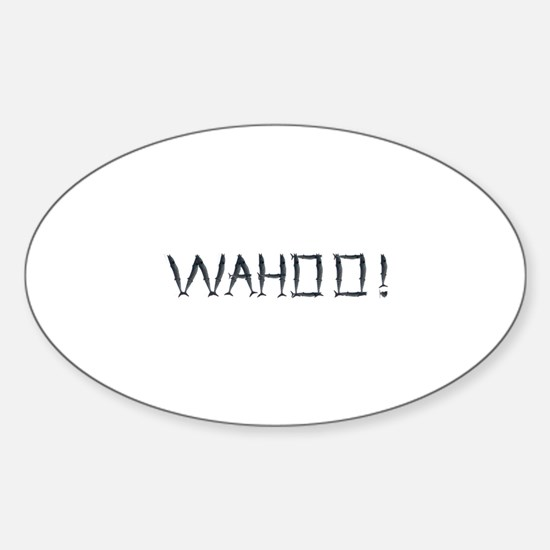 WAHOO! Sticker (Oval)