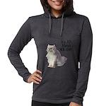 FIN-persian-cat-photo-meow Womens Hooded Shirt