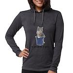 FIN-tabby-gray-good Womens Hooded Shirt