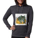 tabby-cat-1-FIN Womens Hooded Shirt