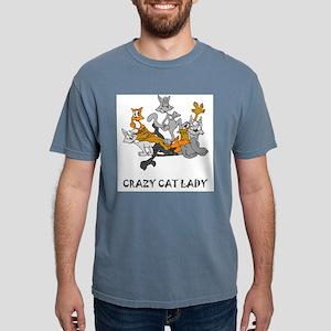 Crazy Cat Lady Mens Comfort Colors Shirt