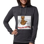 cat-talk-to-the-tail Womens Hooded Shirt