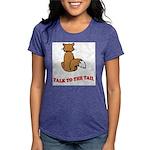 cat-talk-to-the-tail Womens Tri-blend T-Shirt