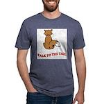 cat-talk-to-the-tail Mens Tri-blend T-Shirt
